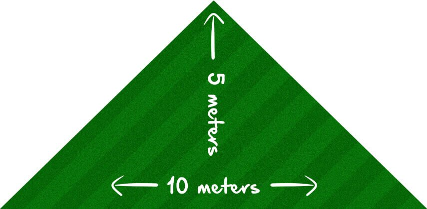 how to measure a triangular lawn